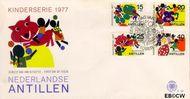 Nederlandse Antillen NA E106  1977 Fantasie-dieren 40 cent  FDC zonder adres