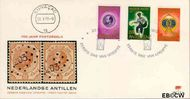 Nederlandse Antillen NA E76  1973 Postzegeljubileum  cent  FDC zonder adres