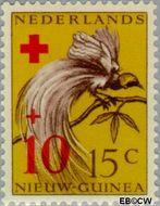 Nieuw-Guinea NG 40  1956 Paradijsvogel 15+10 cent  Gestempeld