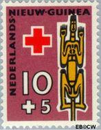 Nieuw-Guinea NG 50  1958 Voorouderbeelden 10+5 cent  Gestempeld