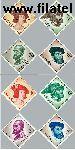 SPA 1121#1128 Postfris 1958 Koning Carlos I