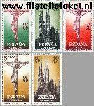 SPA 1177#1182 Postfris 1960 Postzegeltentoonstelling Barcelona