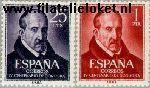 SPA 1264#1265 Postfris 1961 Góngora y Argote, Luis