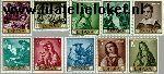 SPA 1304#1313 Postfris 1962 Schilderijen