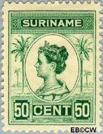 Suriname SU 100  1913 Palmtype 50 cent  Gestempeld