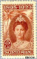 Suriname SU 110  1923 Regeringsjubileum Wilhelmina 1898-1923 500 cent  Gestempeld