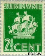Suriname SU 161  1936 Scheepje 2½ cent  Gestempeld