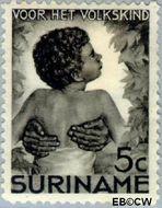 Suriname SU 181  1936 Kinderen 5+2½ cent  Gestempeld