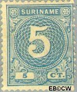 Suriname SU 20  1890 Drukwerkzegel 5 cent  Gestempeld