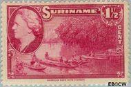 Suriname SU 221  1945 Wilhelmina en landschappen 1½ cent  Gestempeld