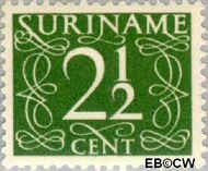 Suriname SU 252  1948 Cijferzegels 2½ cent  Gestempeld
