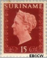 Suriname SU 262  1948 Koningin Wilhelmina 15 cent  Gestempeld
