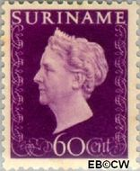 Suriname SU 272  1948 Koningin Wilhelmina 60 cent  Gestempeld