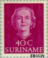 Suriname SU 292  1951 Type 'En Profile' 40 cent  Gestempeld