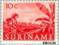 Suriname SU 302  1953 Inheemse voorstellingen 10 cent  Gestempeld