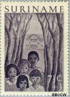 Suriname SU 312  1954 Jeugdwerk 7½+3 cent  Gestempeld