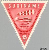 Suriname SU 342  1960 Opening luchthaven Zanderij 15 cent  Gestempeld
