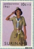 Suriname SU 372  1961 Jamborette 10+3 cent  Gestempeld