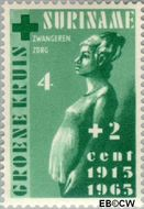 Suriname SU 420  1965 Groene Kruis 4+2 cent  Gestempeld