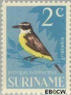 Suriname SU 440  1966 Vogels 2 cent  Gestempeld