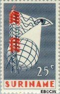 Suriname SU 460  1966 Eerste televisie-uitzending Suriname 25 cent  Gestempeld