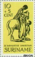Suriname SU 470  1967 Barmhartige Samaritaan 10+5 cent  Gestempeld