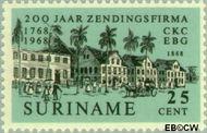 Suriname SU 500  1968 Zendingsfirma C.Kersten & Co. 25 cent  Gestempeld