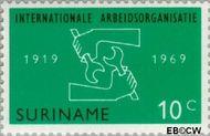 Suriname SU 520  1969 I.L.O. 10 cent  Gestempeld