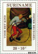 Suriname SU 570  1971 Kinderspelen 20+10 cent  Gestempeld