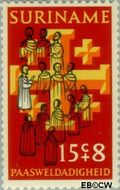 Suriname SU 580  1972 Paassymbolen 15+8 cent  Gestempeld