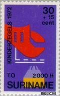 Suriname SU 590  1972 Onderwijs 30+15 cent  Gestempeld