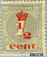 Suriname SU 60  1911 Hulpuitgifte ½ op 1 cent  Gestempeld