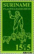 Suriname SU 640  1975 Bijbelse voorstellingen 15+5 cent  Gestempeld