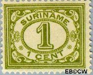 Suriname SU 70  1913 Drukwerkzegel 1 cent  Gestempeld