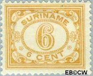 Suriname SU 80  1913 Drukwerkzegel 6 cent  Gestempeld