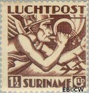 Suriname SU LP7  1930 Mercurius 150 cent  Gestempeld