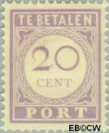 Suriname SU PT26  1913 Port 20 cent  Gestempeld