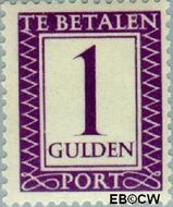 Suriname SU PT46  1950 Port 100 cent  Gestempeld