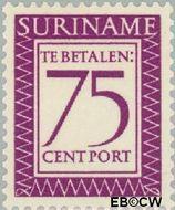 Suriname SU PT56  1956 Port 75 cent  Gestempeld