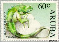 Aruba AR 129  1993 Bedreigde dieren 60 cent  Gestempeld