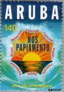 Aruba AR 189  1997 Jaar van het Papiamento 140 cent  Gestempeld