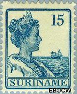 Suriname SU 91  1915 Scheepjes-type 15 cent  Gestempeld