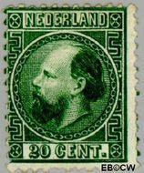Nederland NL 10  1867 Koning Willem III- 3e emissie 20 cent  Gestempeld