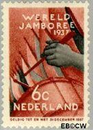 Nederland NL 294  1937 Wereld Jamboree 6 cent  Gestempeld