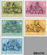 Nederland NL 596#600  1952 Kind en dier   cent  Gestempeld