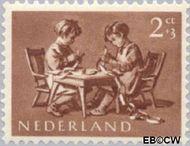 Nederland NL 649  1954 Opvoeding en leren 2+3 cent  Gestempeld