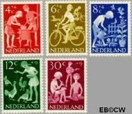 Nederland NL 779#783  1962 Kinderactiviteiten   cent  Gestempeld