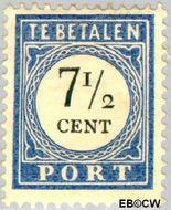 Nederland NL P21  1904 Portzegel 7½ cent  Gestempeld