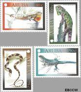 Aruba AR 243#246  2000 Hagedissen  cent  Gestempeld