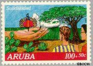 Aruba AR 109  1992 Solidariteit 100+50 cent  Gestempeld